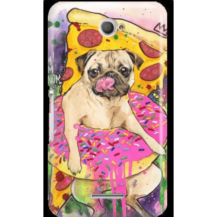 Etui na telefon Sony Xperia E4 Głodny Mops