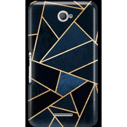 Etui na telefon Sony Xperia E4 Geometyczne Indygo
