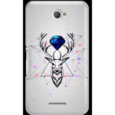 Etui na telefon Sony Xperia E4 Jeleń Geometryczny