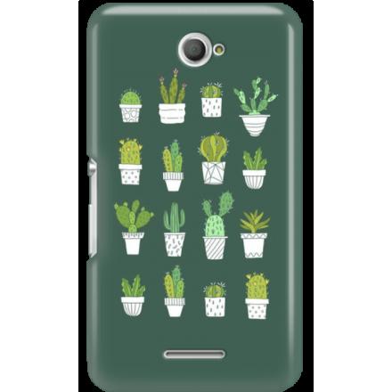 Etui na telefon Sony Xperia E4 Kaktusy