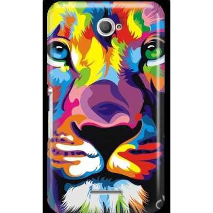 Etui na telefon Sony Xperia E4 Kolorowy Lew