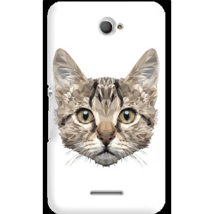 Etui na telefon Sony Xperia E4 Kot Geometryczny