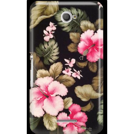 Etui na telefon Sony Xperia E4 Kwiatowy Raj