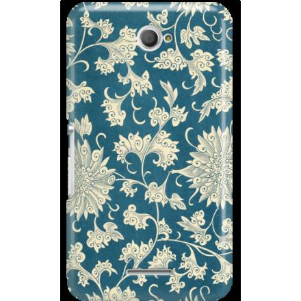 Etui na telefon Sony Xperia E4 Kwiaty Ornamenty