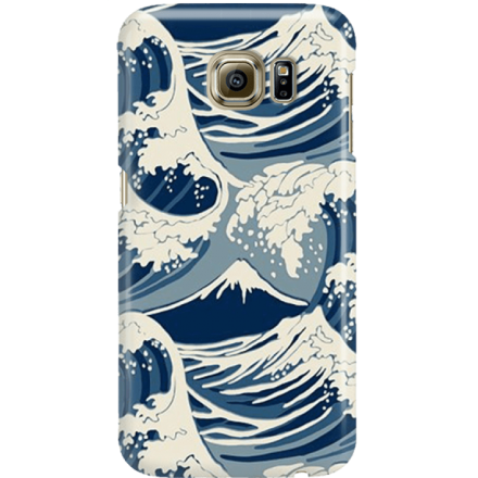 Etui na telefon Samsung Galaxy S6 Japonskie Fale
