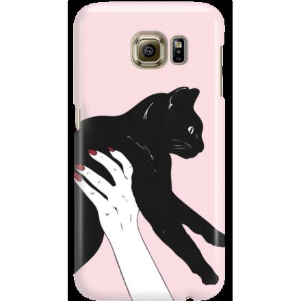 Etui na telefon Samsung Galaxy S6 Mój Czarny Kot