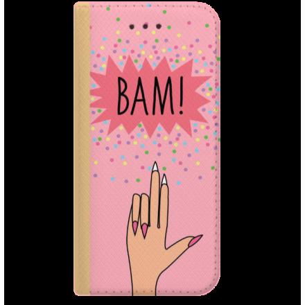 ETUI BOOK MAGNET NA TELEFON LG K8 2018 K9 ZŁOTY BAM
