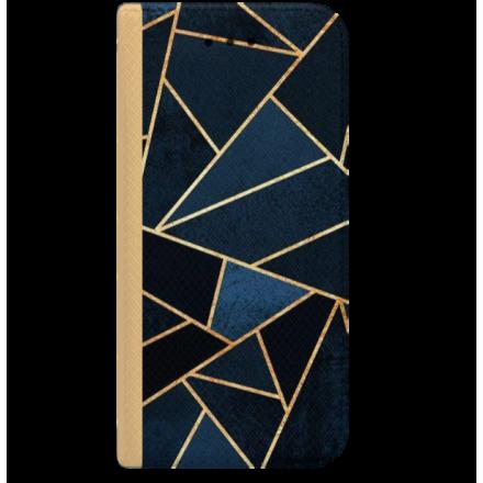 ETUI BOOK MAGNET NA TELEFON LG K8 2018 K9 ZŁOTY GEOMETRYCZNE IDYGO