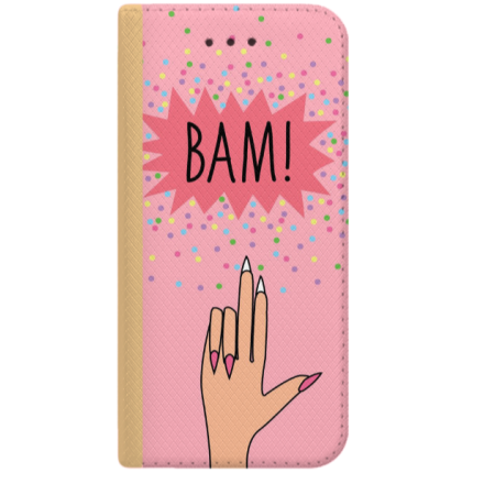 ETUI BOOK MAGNET NA TELEFON SAMSUNG GALAXY A6 2018 ZŁOTY BAM