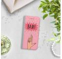 ETUI BOOK MAGNET NA TELEFON SAMSUNG GALAXY A5 2016 STALOWY BAM