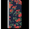 ETUI BOOK MAGNET NA TELEFON SAMSUNG GALAXY A5 2016 STALOWY CZERWONE KWIATY