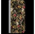 ETUI BOOK MAGNET NA TELEFON SAMSUNG GALAXY A5 2016 STALOWY EGZOTYCZNE ROŚLINY