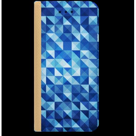 ETUI BOOK MAGNET NA TELEFON ALCATEL PIXI 4 4.0 ZŁOTY BLUE GEOMETRIC