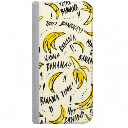 ETUI BOOK MAGNET NA TELEFON SAMSUNG GALAXY A5 2016 STALOWY BANANA BANANY