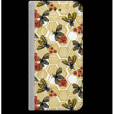 ETUI BOOK MAGNET NA TELEFON SAMSUNG GALAXY A5 2016 STALOWY BEE