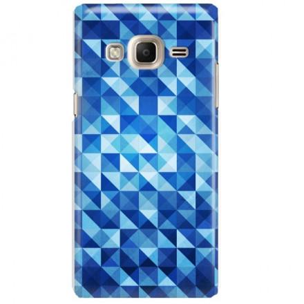 Etui na telefon SAMSUNG Z3 BLUE GEOMETRIC