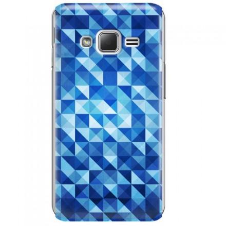 Etui na telefon SAMSUNG Z1 BLUE GEOMETRIC