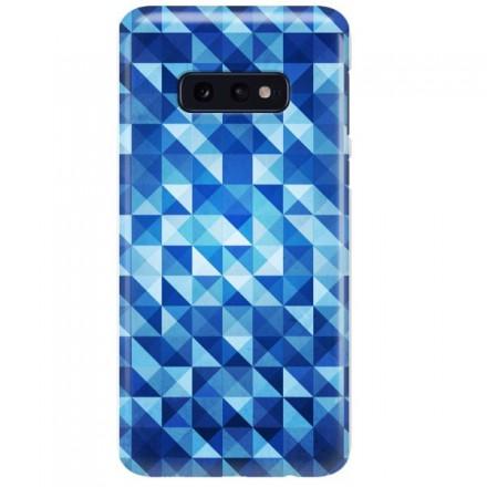 Etui na telefon SAMSUNG GALAXY S10E BLUE GEOMETRIC