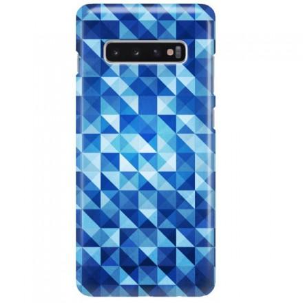 Etui na telefon SAMSUNG GALAXY S10 PLUS BLUE GEOMETRIC