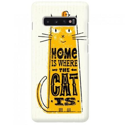 Etui na telefon SAMSUNG GALAXY S10 PLUS HOME IS WHERE THE CAT IS