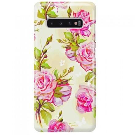 Etui na telefon SAMSUNG GALAXY S10 PLUS KWIATY FLOWERS