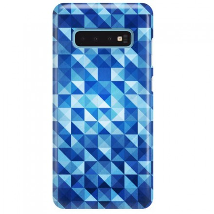 Etui na telefon SAMSUNG GALAXY S10 BLUE GEOMETRIC