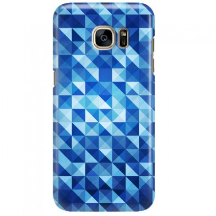 Etui na telefon SAMSUNG GALAXY S7 EDGE BLUE GEOMETRIC