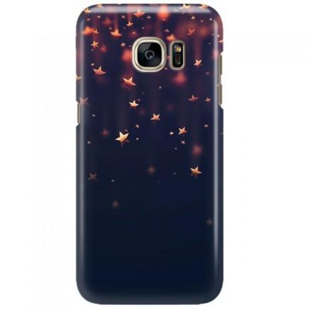 Etui na telefon SAMSUNG GALAXY S7 EDGE GWIAZDKI BŁĘKITNE