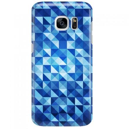 Etui na telefon SAMSUNG GALAXY S7 BLUE GEOMETRIC