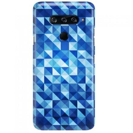 Etui na telefon LG V40 BLUE GEOMETRIC