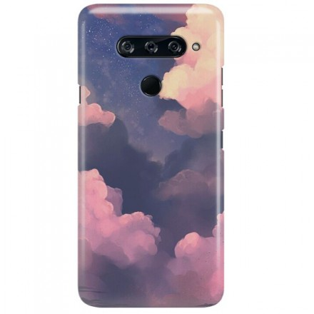 Etui na telefon LG V40 CLOUDS