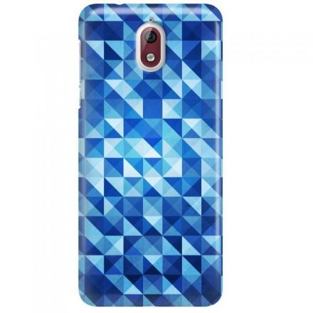 Etui na telefon NOKIA 3.1 BLUE GEOMETRIC