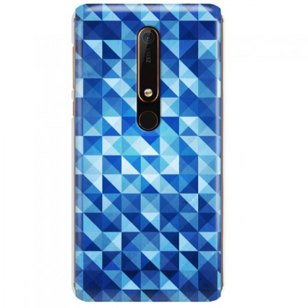 Etui na telefon NOKIA 6.1 BLUE GEOMETRIC