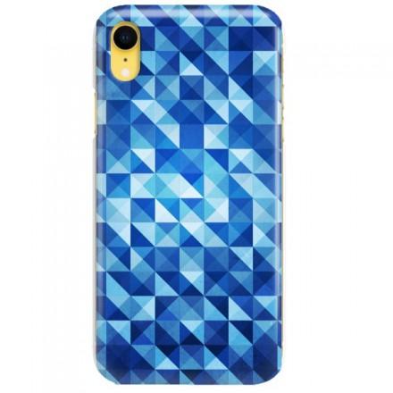 Etui na telefon APPLE IPHONE XR BLUE GEOMETRIC