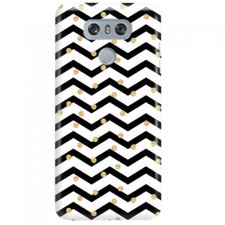 Etui na telefon LG G6 GOLD BLACK WHITE