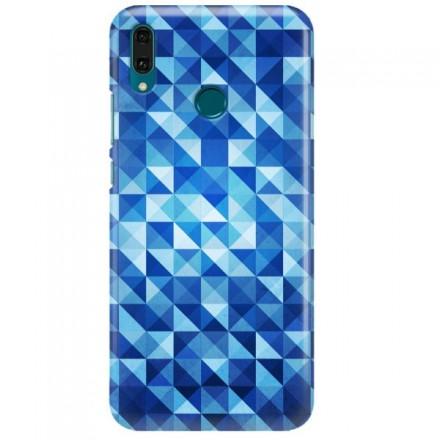 Etui na telefon HUAWEI Y9 2019 BLUE GEOMETRIC