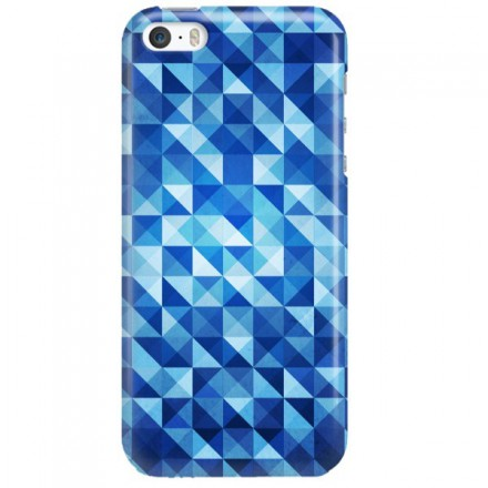 Etui na telefon APPLE IPHONE 5 / 5S / SE BLUE GEOMETRIC