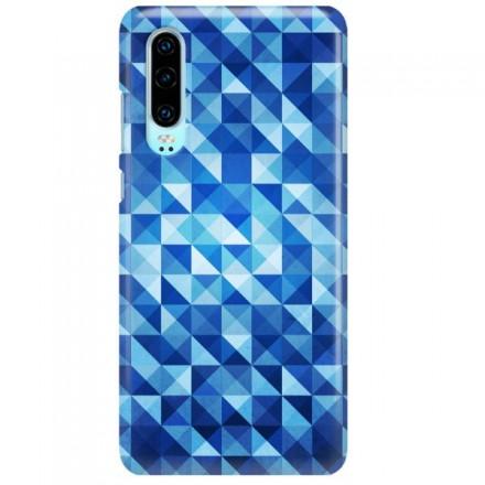 Etui na telefon HUAWEI P30 BLUE GEOMETRIC