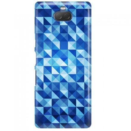 Etui na telefon SONY XPERIA XA3 BLUE GEOMETRIC