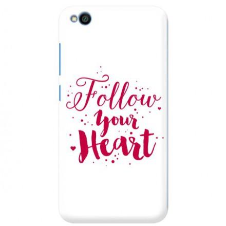 Etui na telefon XIAOMI REDMI GO FOLLOW YOUR HEART