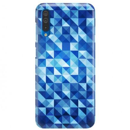 Etui na telefon SAMSUNG GALAXY A50 BLUE GEOMETRIC
