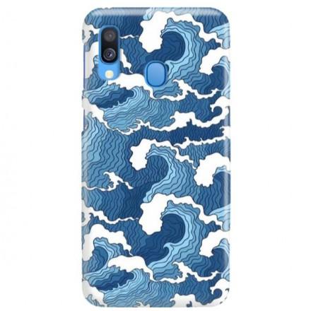 Etui na telefon SAMSUNG GALAXY A40 FALE WAVES