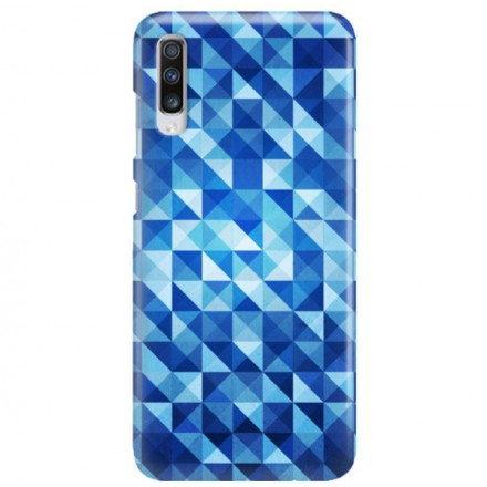 Etui na telefon SAMSUNG GALAXY A70 BLUE GEOMETRIC