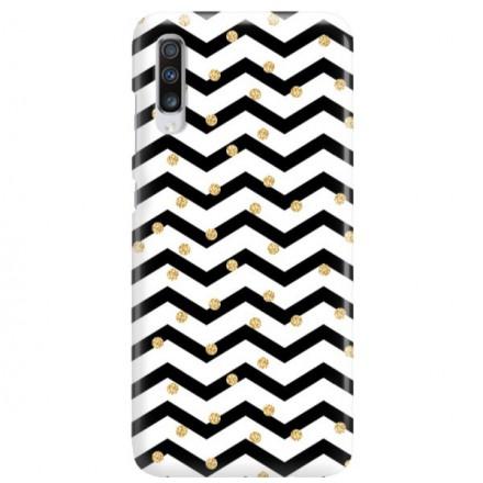 Etui na telefon SAMSUNG GALAXY A70 GOLD BLACK WHITE