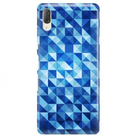 Etui na telefon SONY XPERIA L3  BLUE GEOMETRIC
