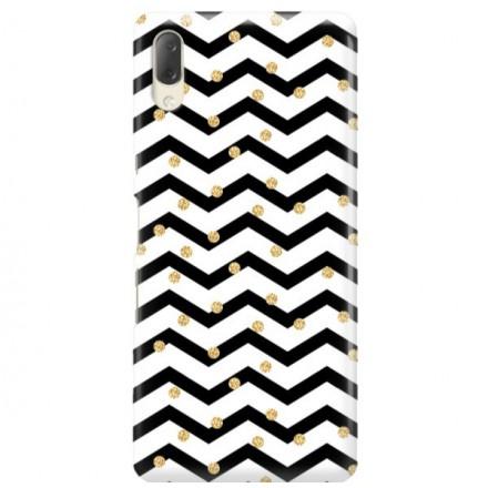 Etui na telefon SONY XPERIA L3  GOLD BLACK WHITE