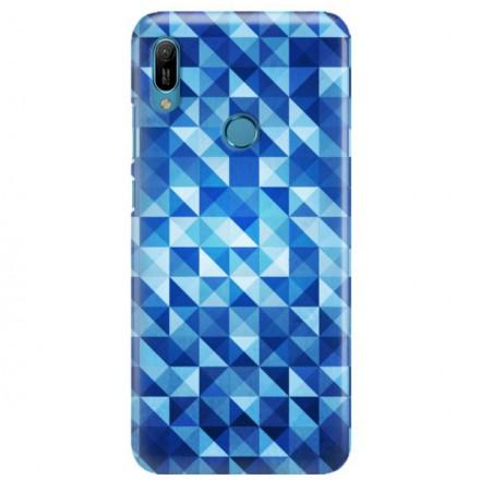 Etui na telefon HUAWEI Y6 2019 BLUE GEOMETRIC