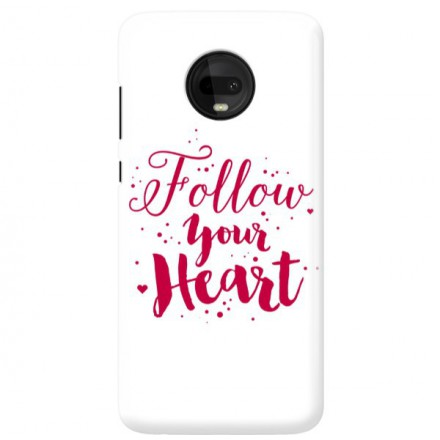 Etui na telefon MOTOROLA MOTO G7  FOLLOW YOUR HEART