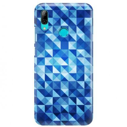 Etui na telefon HUAWEI Y7 2019 BLUE GEOMETRIC
