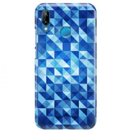 Etui na telefon HUAWEI P30 LITE BLUE GEOMETRIC